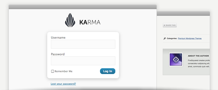 Karma - Premium WordPress Theme - Extras